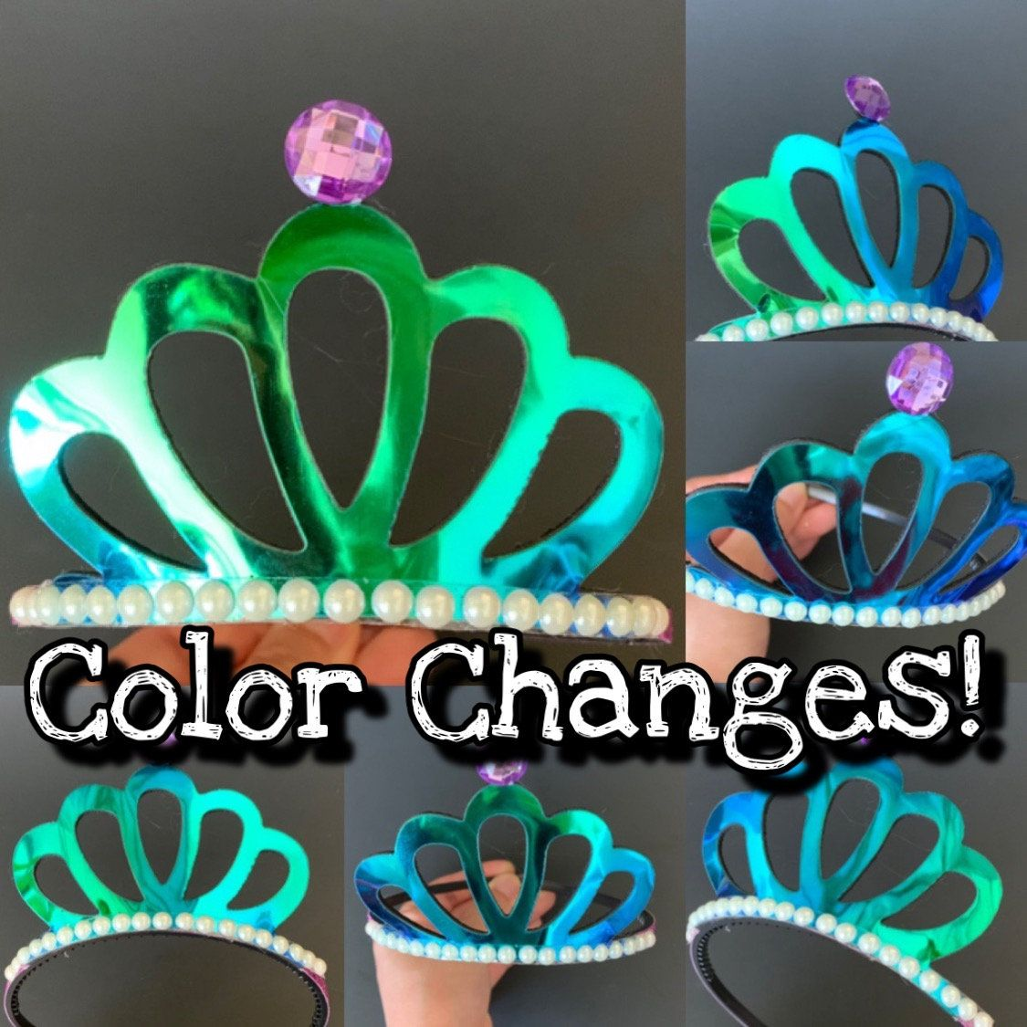 Disney Princess Ariel Little Mermaid Costume Crown Tiara Costume Dress Up