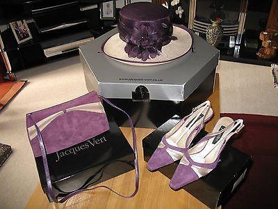 Jacques Vert Cassis Range Bag Shoes And Matching Hat Purple 39 Uk 5 5 Range Bag Jacques Vert Bags