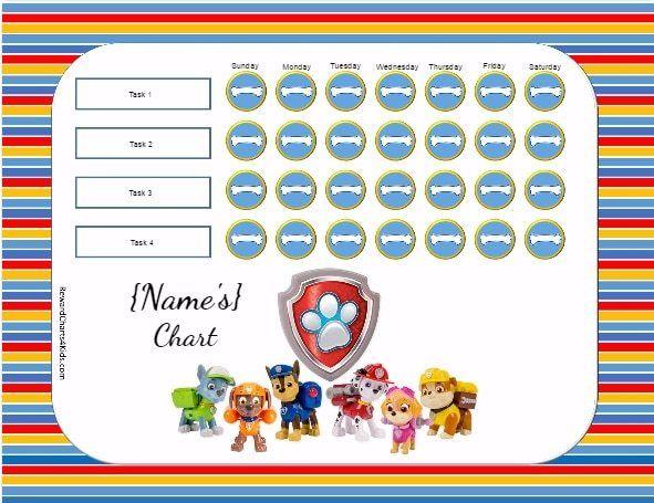 Behavior Charts Potty Charts Reward Chart Kids Printable Reward