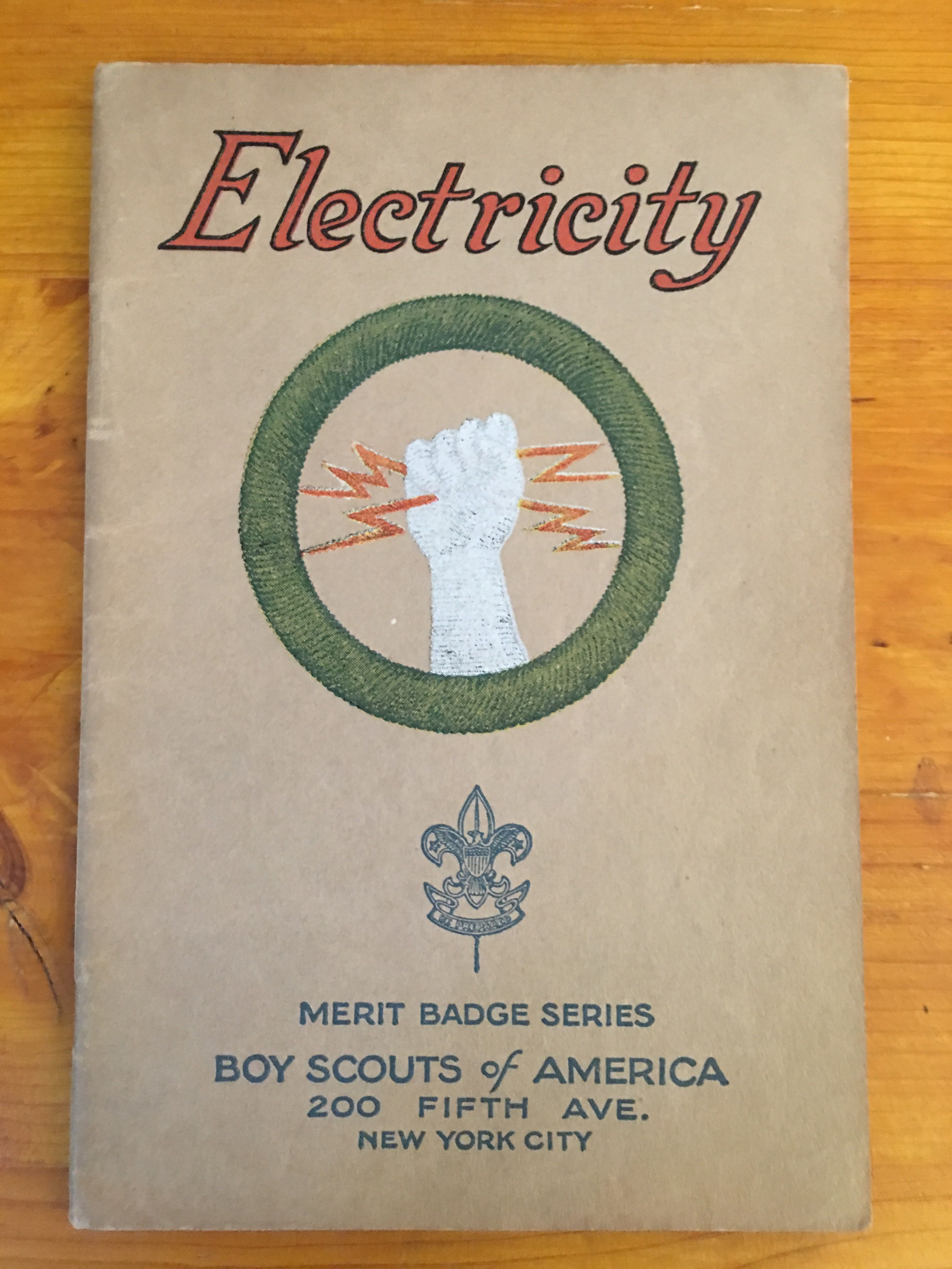 Electricity Merit Badge Book