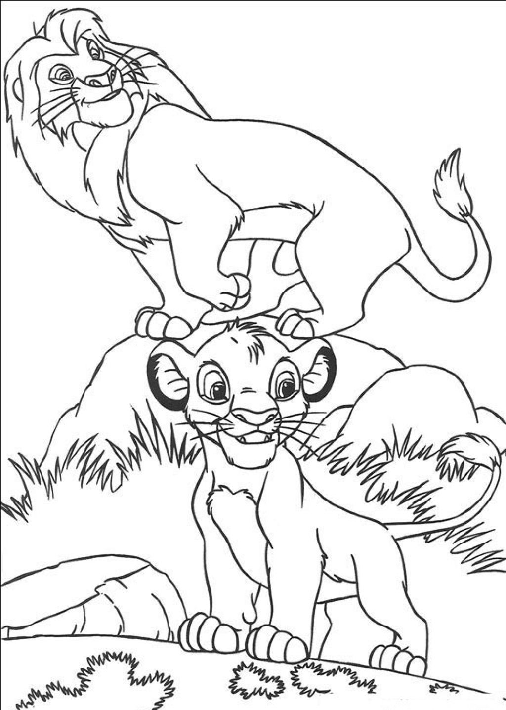 printable simba coloring pages jpg 1024 1437 disney coloring