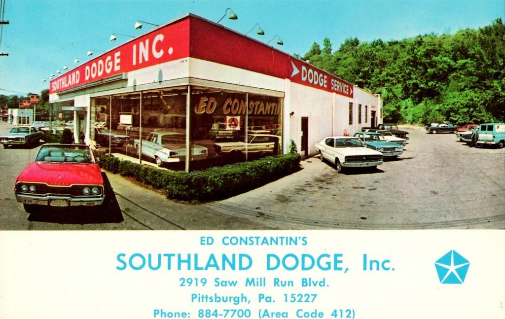 Southland Dodge Pittsburgh Pa 1966 Car Dealership Pittsburgh Dealership