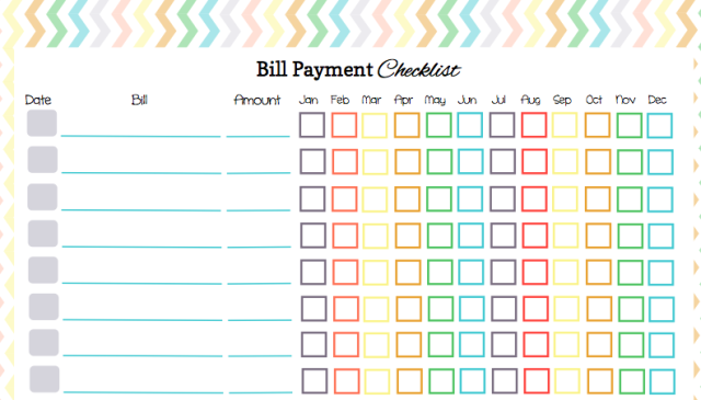 Bill Paying Worksheet Sharebrowse – Bills to Pay Template