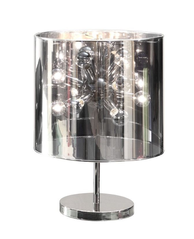 Supernova Table Lamp in Chrome Base with Mirror Mylar Shade