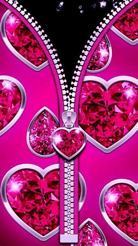 Pink Heart Gem   Pink Wallpaper Heart, Bling Wallpaper