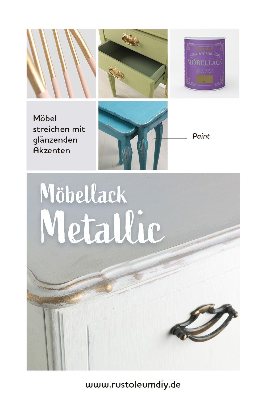 Metallic Oberflache Mobellack In 2020 Mobelwachs Metallic Kreidefarbe Fur Mobel