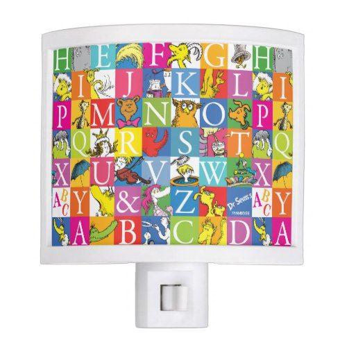 Dr. Seuss's ABC Colorful Block Letter Pattern Night Light