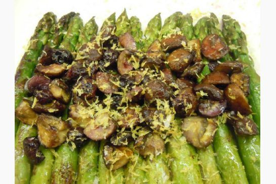 Blueberry Mushroom Asparagus