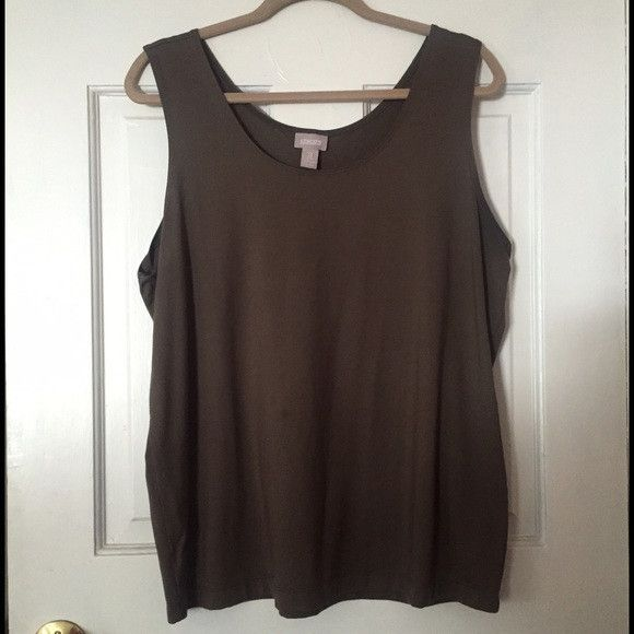Chicos 3 Brown Tank Top Cami Sleeveless Shell Womens 16 18