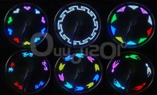 Fahrrad-Rad-Reifen-14-LED-Speiche-Felgen-Flash-Licht-Lampe-30-Muster ...