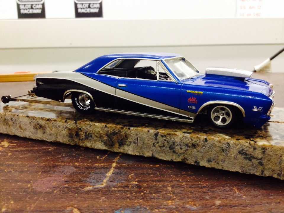 67 Chevelle 1 25 Scale Slot Drag Car Scale Models Cars Slot Car Drag Racing Slot Cars