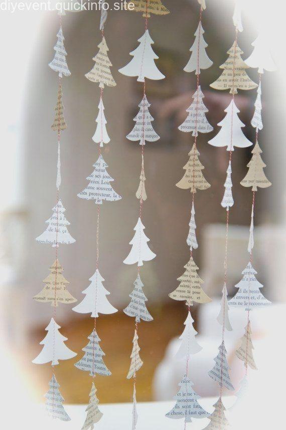 Fensterbilder Weihnachten Weihnachten Kranz von LaMiaCasa auf Etsy Mehr #fensterdekoweihnachten