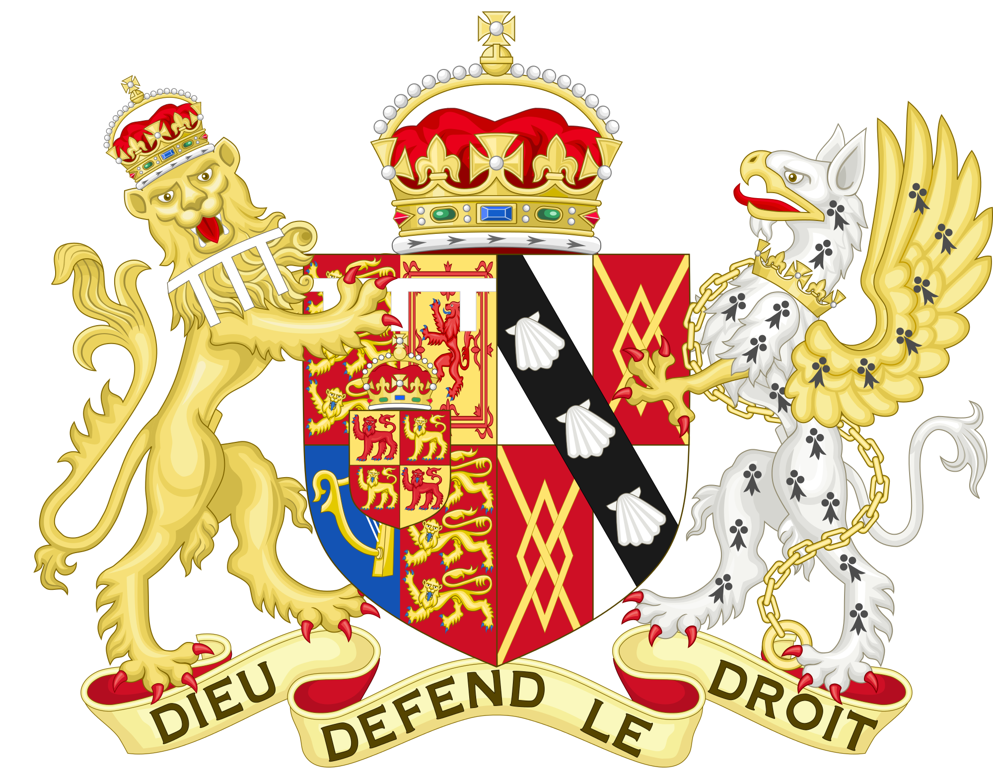 arms of diana princess of wales 1981 1996 heraldry. Black Bedroom Furniture Sets. Home Design Ideas