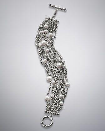 David Yurman Multi Row Bracelet, Pearl - Neiman Marcus