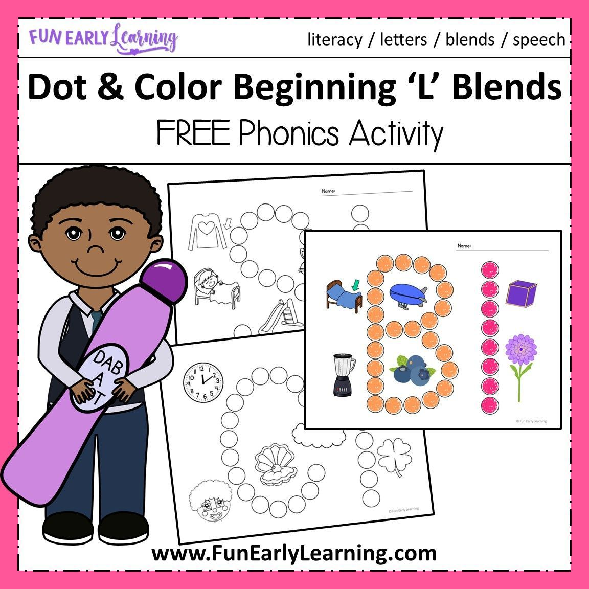 Dot And Color Beginning L Blends