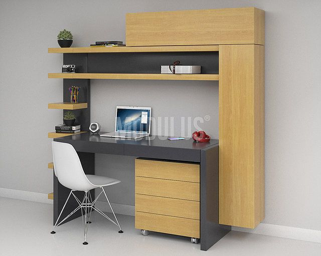 escritorios modernos, escritorios minimalistas, bibliotecas - Escritorios Modernos