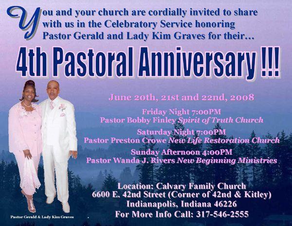 pastor's anniversary program covers | 4th Pastoral ...