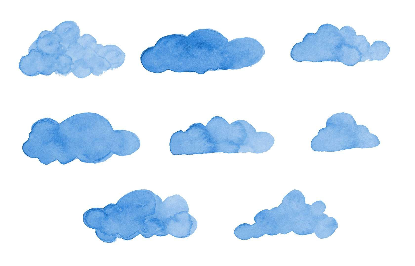 10 Blue Clouds Png