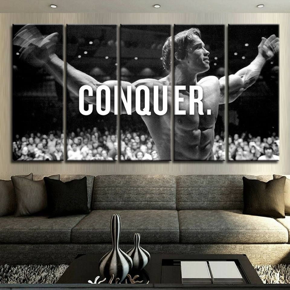 This Would Be An Amazing Wallpaper To Have Either At The Entrance Of Your Gym Or At Home Wow Bo Arnold Schwarzenegger Conquer Arnold Wall Art Conquer Canvas
