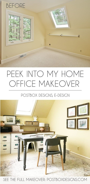 Postbox designs interior  design  peek into my home office makeover girl boss decor feminine via online also take own  diy group rh pinterest
