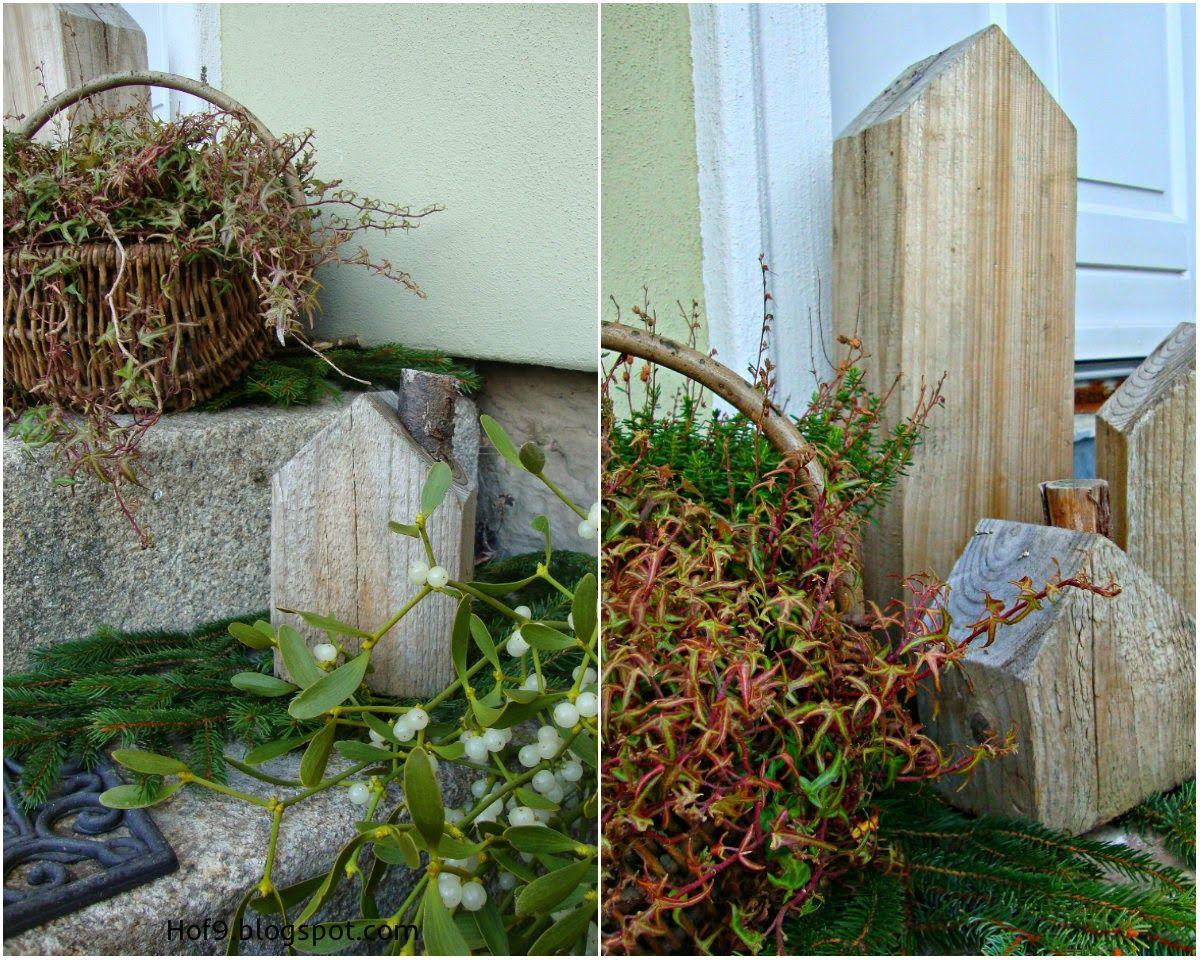 Dekoration Hauseingang, Weihnachtsdeko Hauseingang, Misteln, Laterne,  Treppenaufgang