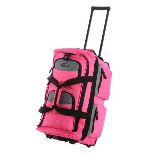 00c5787200 Olympia Luggage Sports Plus 22 Inch 8 Pocket Rolling Duffel Bag