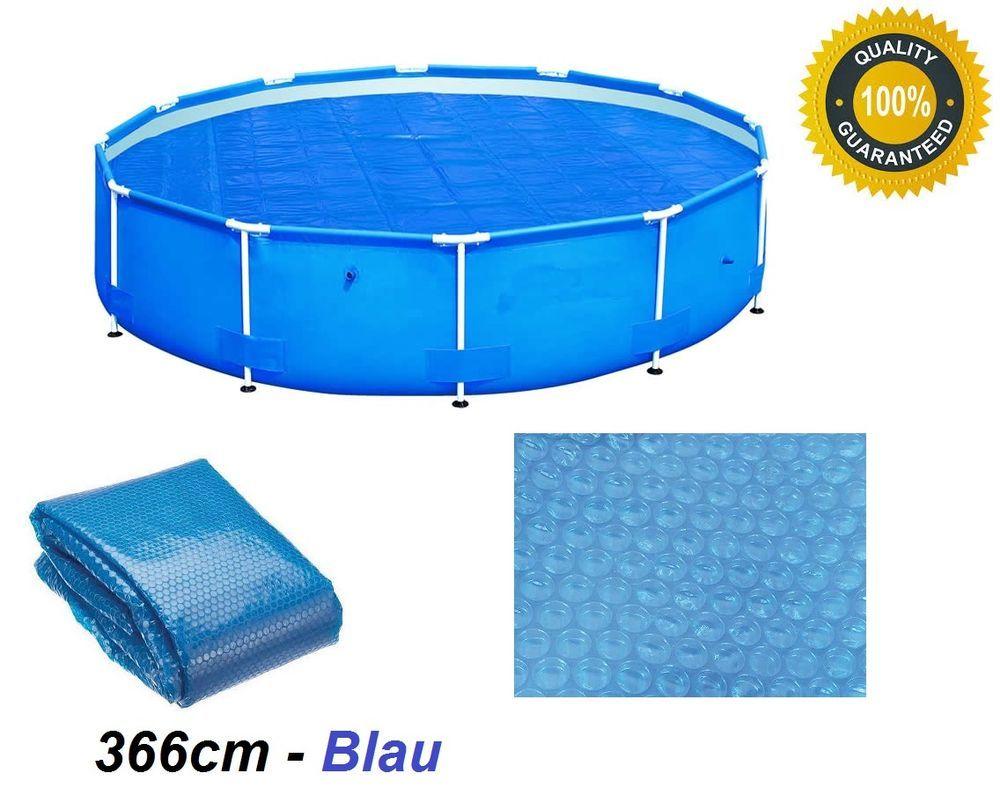 Solarplane Pool Wärmeplane Blau 366cm für #Poolheizung Solarfolie ...