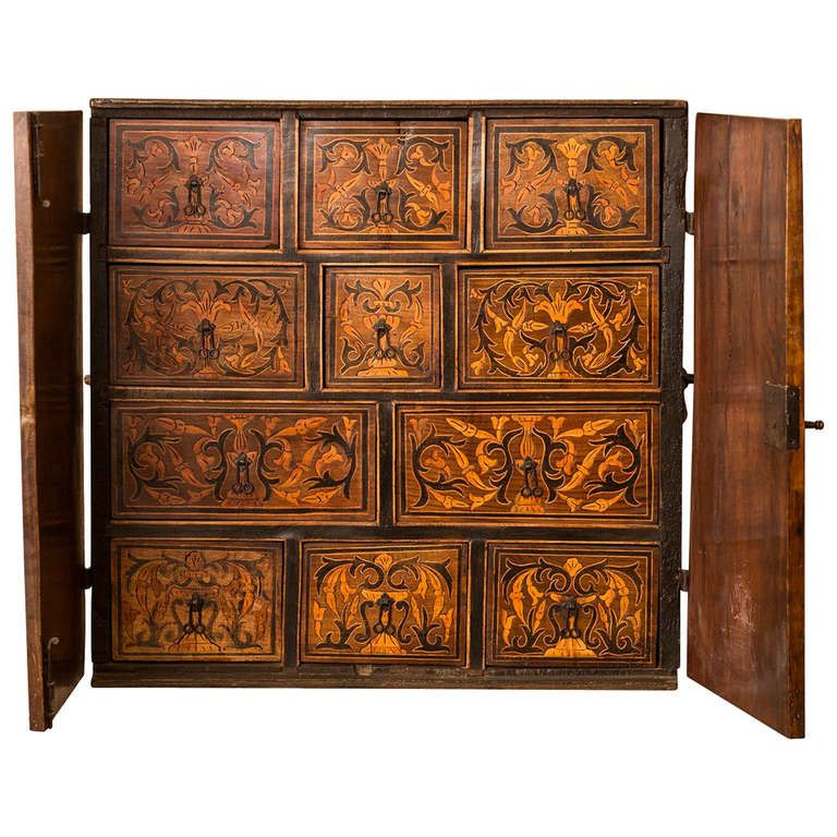 Exsquisite Bargueño Inlaid Walnut | From A Unique Collection Of Antique And Modern  Wardrobes And Armoires