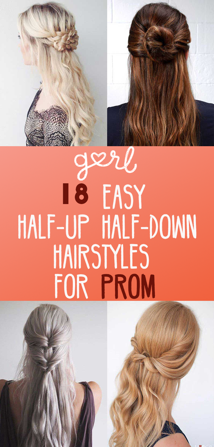 halfuphalfdown hairstyle tutorials perfect for prom