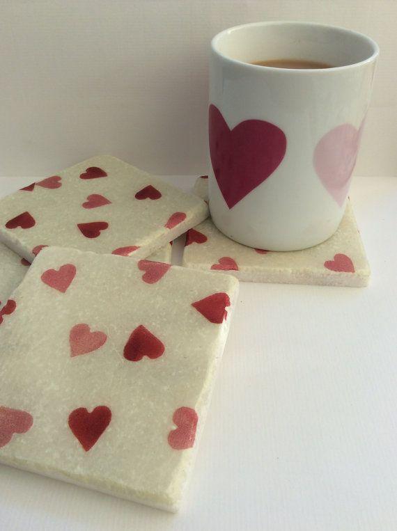 Emma Bridgewater Love Hearts  Set of 2 Marble by LisaJaneofSurrey