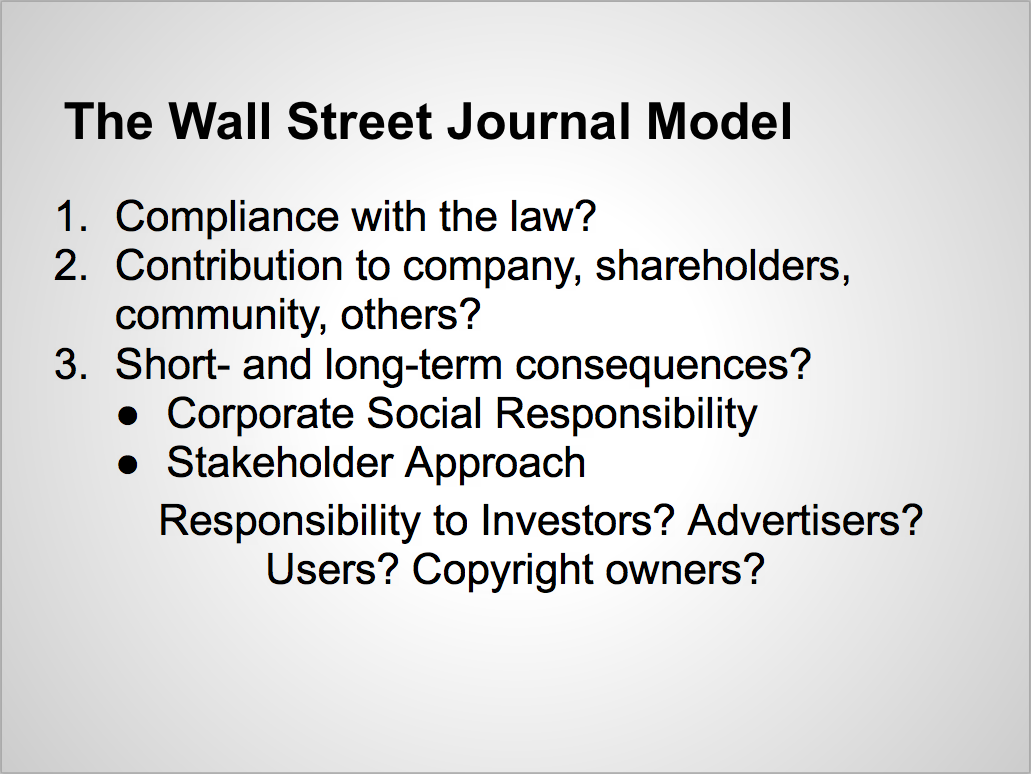 the wall street journal model corporate social on wall st journal id=79761
