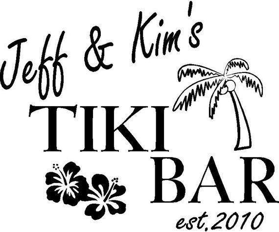 Tiki Bar Vinyl Decal