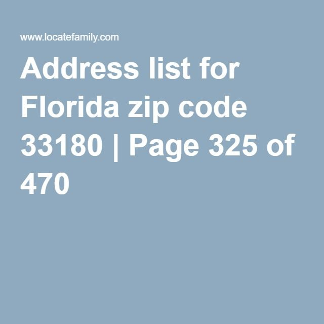 Address List For Florida Zip Code   Page  Of   Emily