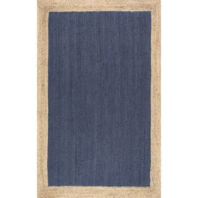 Beachcrest Home Edgehill Hand-Woven Blue Area Rug Rug Size: