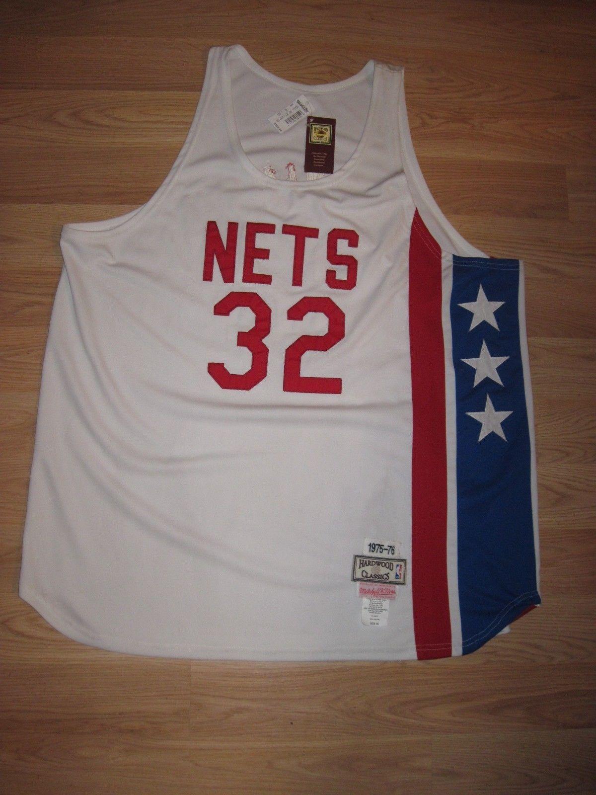 3455b76b NBA Hardwood Classics N Y Nets Julius Dr J Erving Throwback Basketball  Jersey | eBay
