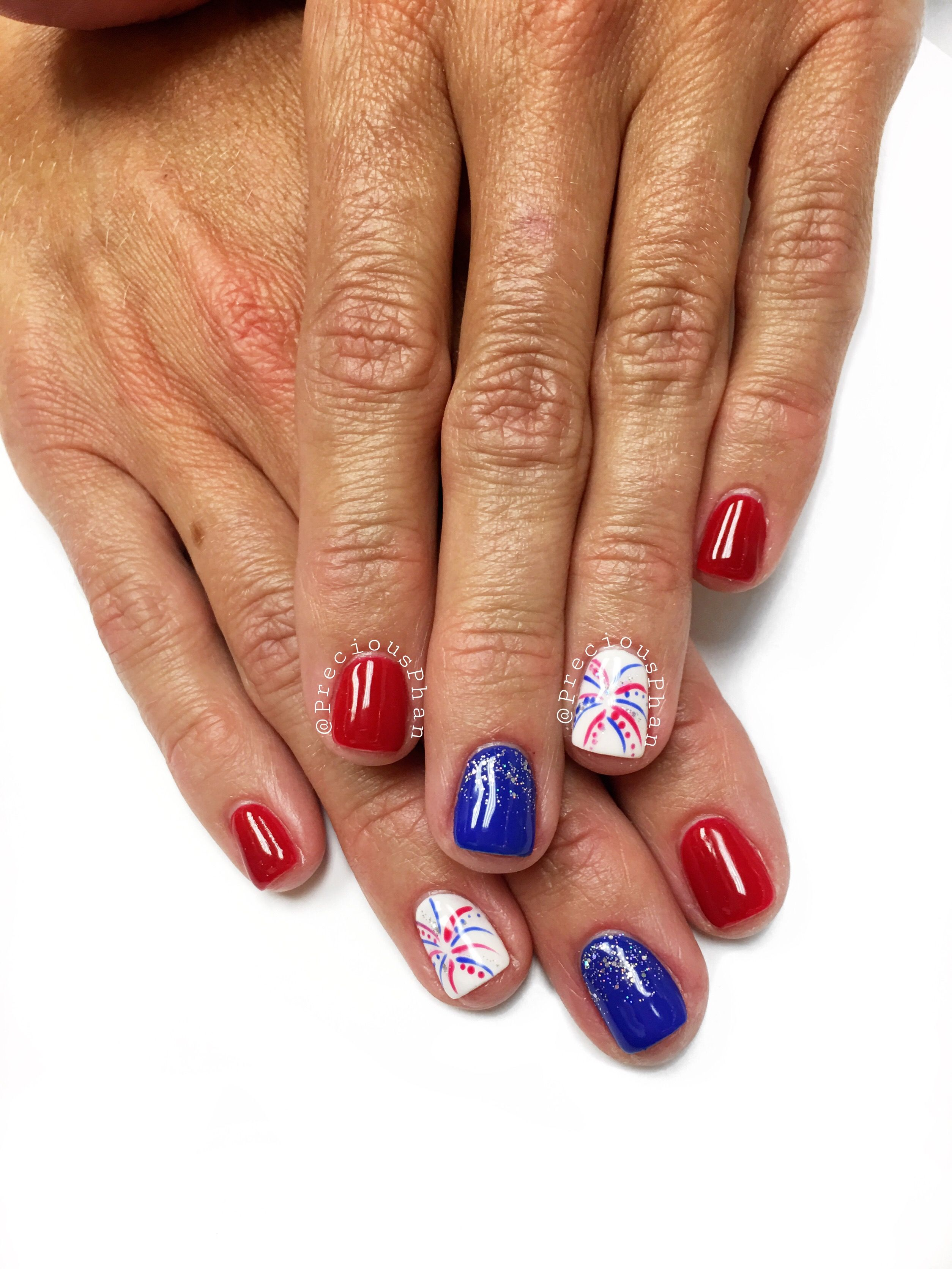 Nails for the Fourth of July | Nails | Pinterest | Ombre, Nail nail ...