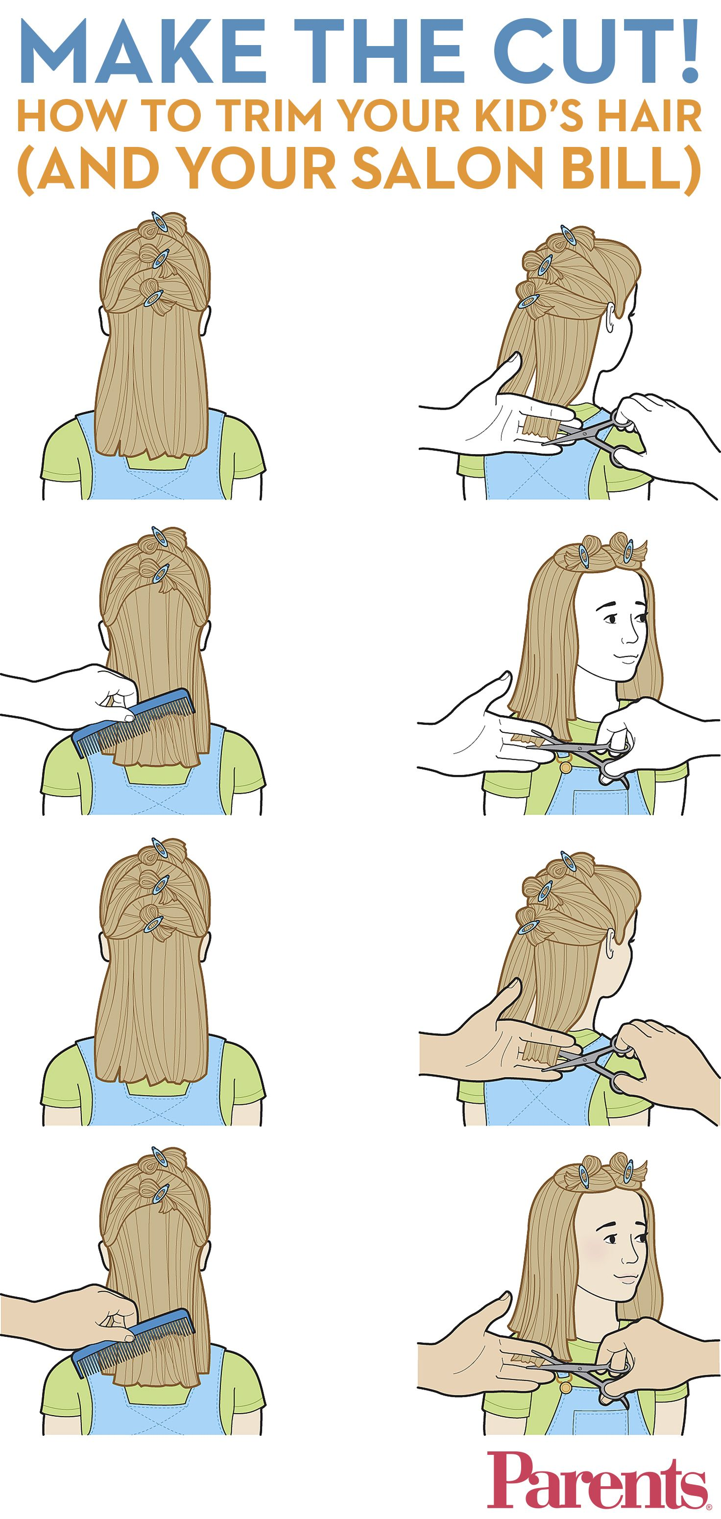 How to cut your kids hair girl hair haircuts and salons