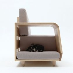 Modern Cushioned Sofa with Dog House Attached :)