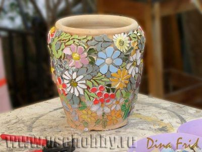 ideas para decorar macetas de ceramica