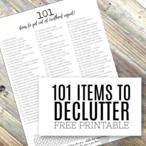 Decluttering Made Easy  101 Items to Get Rid of Without Regret is part of Clutter free home, Declutter, Free printables, Declutter your home, Decluttering inspiration, Clutter free - Free printable checklist to track all the things to declutter from your home  Be clutter free with this list of items to get rid of  Great decluttering inspiration!