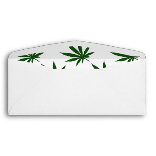With the legalization of weed for recreational purposes products have become more common place. I created this simple single green pot leaf design for you . Weed Leaf Envelope by kahmier