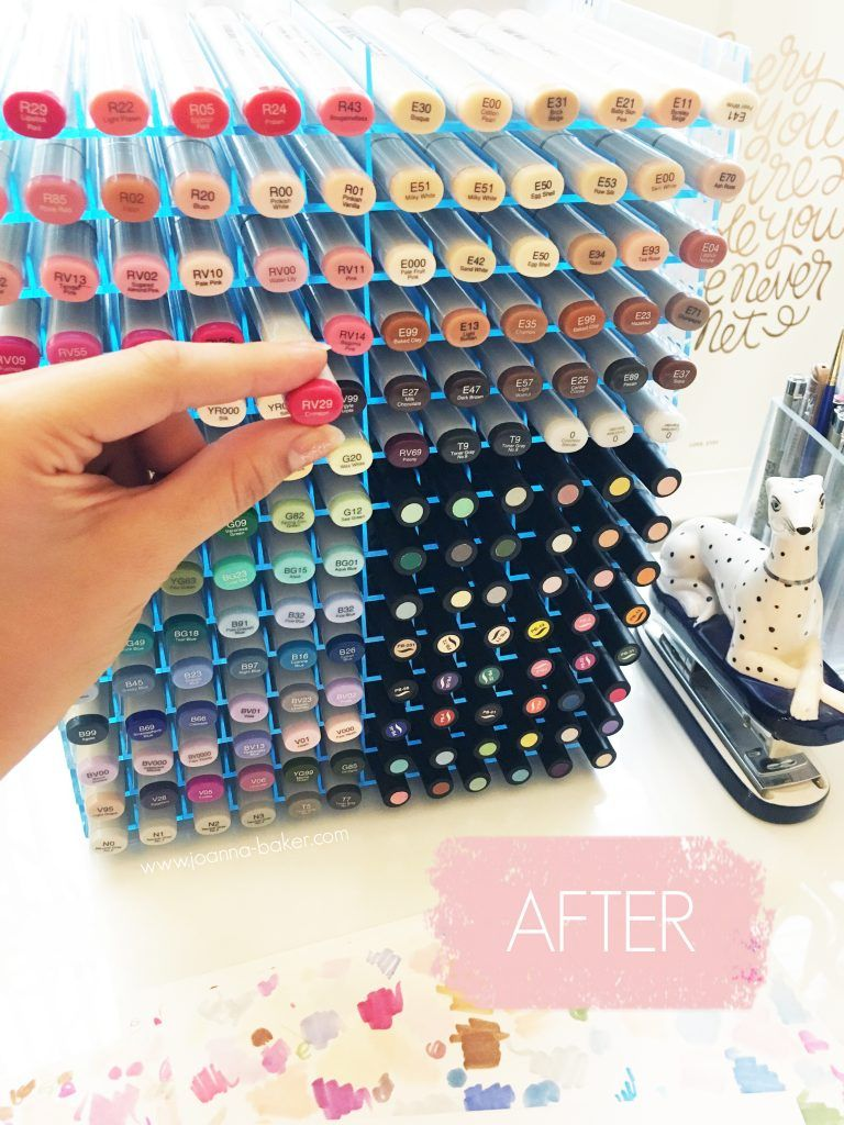 Top 10 Copic Marker Storage Ideas Joanna Baker Fashion Lifestyle Illustrations Marker Storage Copic Markers Copic Pens
