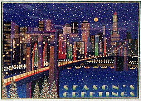 New york and brooklyn themed boxed holiday cards