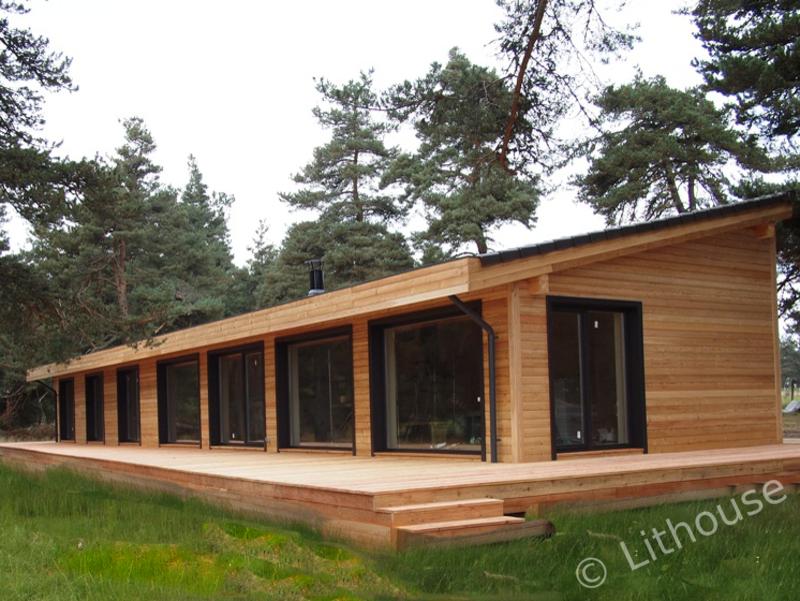 lithouse construction bois ecologique une maison contemporaine en 2019 modern wood house. Black Bedroom Furniture Sets. Home Design Ideas