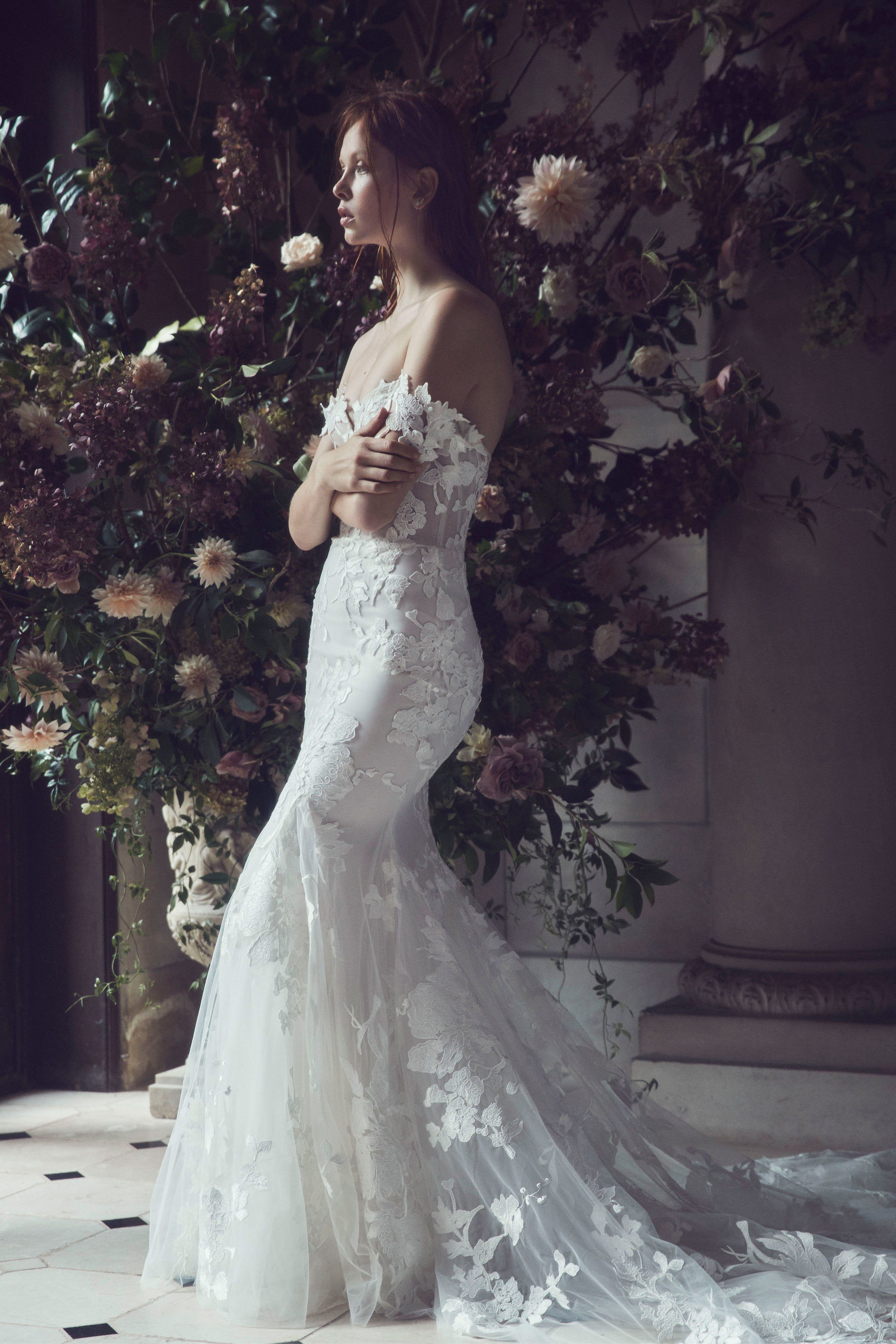Wedding decorations for reception january 2019 Monique Lhuilier Fall  Bridal Collection weddingdress