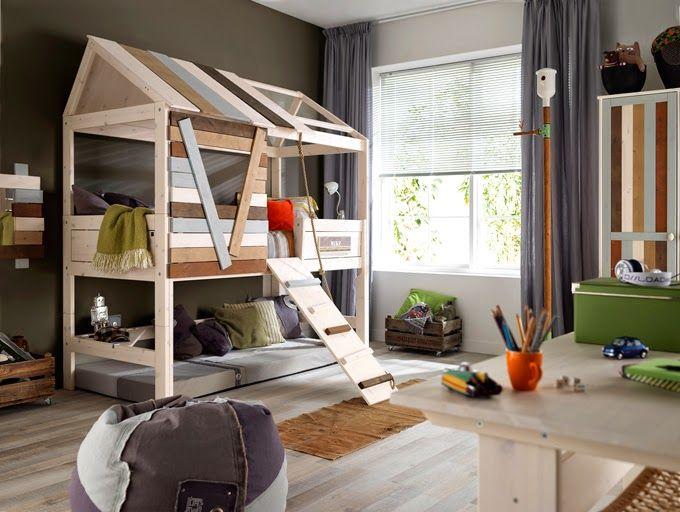 Amenajare Camera Montessori : 60 de idei de amenajare cu paturi suprapuse în camera copiilor for