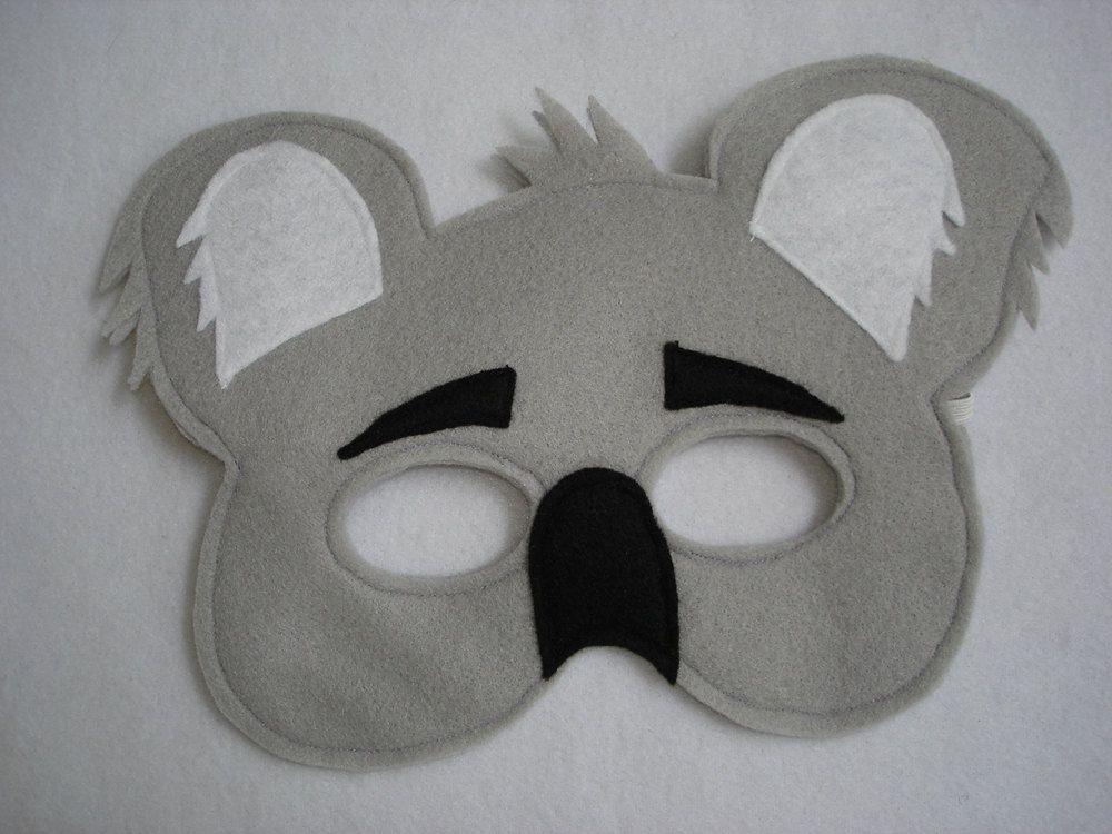 Children's KOALA Bear Felt Mask   Bear felt, Mask for kids ...