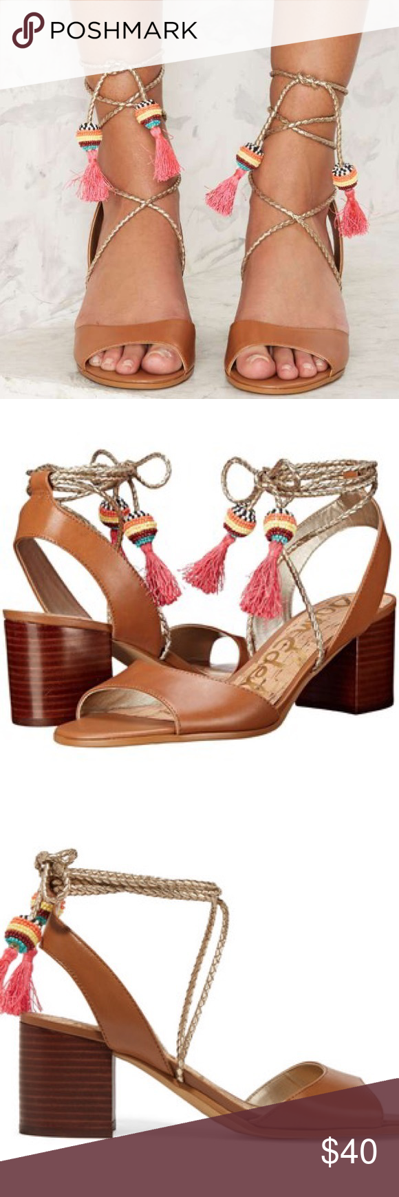 069be51a768a Sam Edelman Shani Sandal Size 8 Add these block heel sandals to your  collection for the