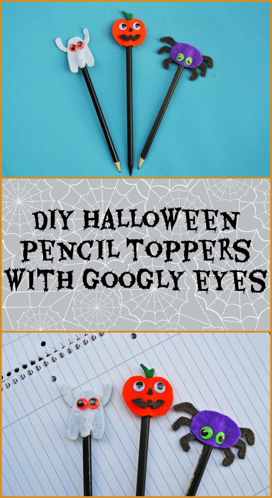 Diy Halloween Pencil Toppers With Googly Eyes Pencil Toppers Pencil Toppers Diy Pencil Topper Crafts
