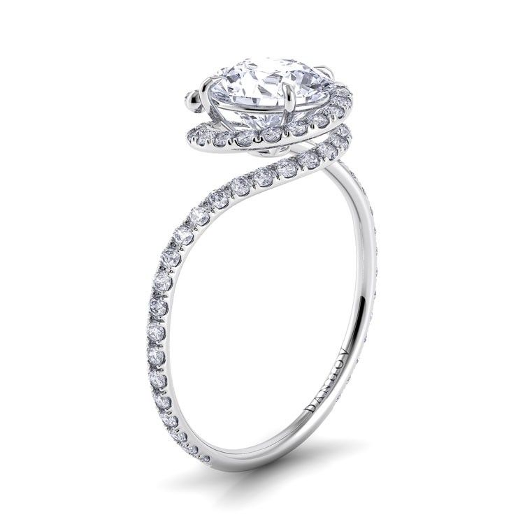 swirl forever c moissanite one danhov engagement abbraccio rings ring